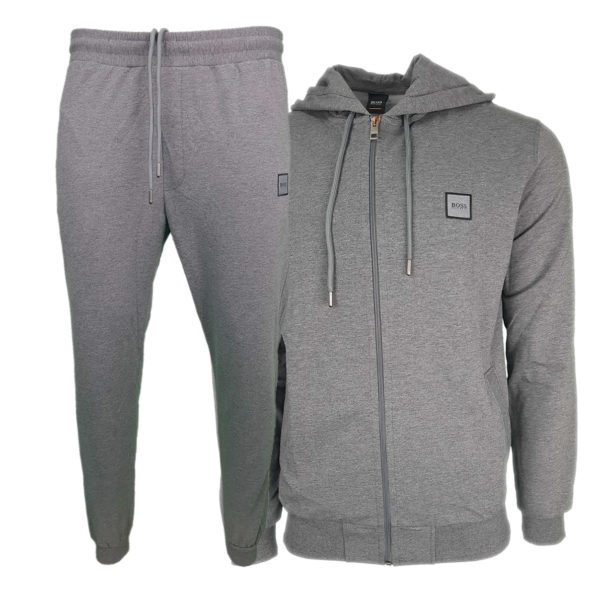 de0162648 Hugo Boss Pavlik Tracksuit Top Jacket & Bottoms with Contrast Logo in Dark  Grey