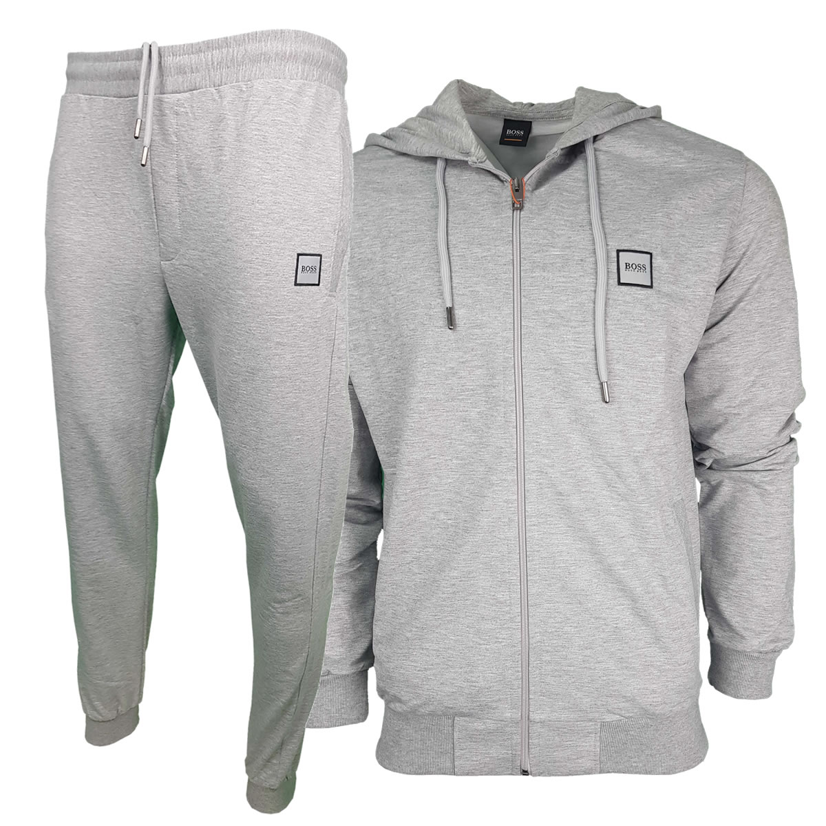 a1da2a74b Hugo Boss Pavlik Tracksuit Top Jacket & Bottoms with Contrast Logo in Light  Grey