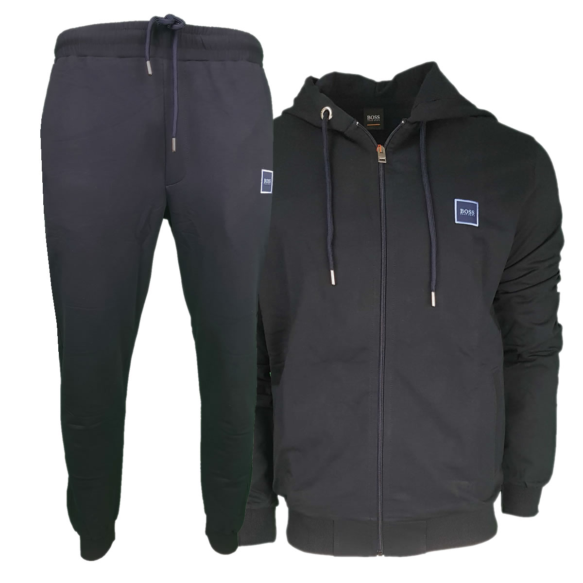 e7ae01be8 Hugo Boss Pavlik Tracksuit Top Jacket & Bottoms with Contrast Logo in Navy  Blue