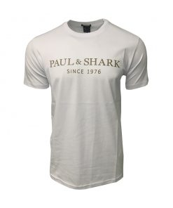 Paul & Shark Men's Crew Neck T Shirt. Since 1976 Print in White