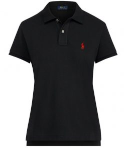 Ralph Lauren Womes Polo Shirt Small Pony Black SP