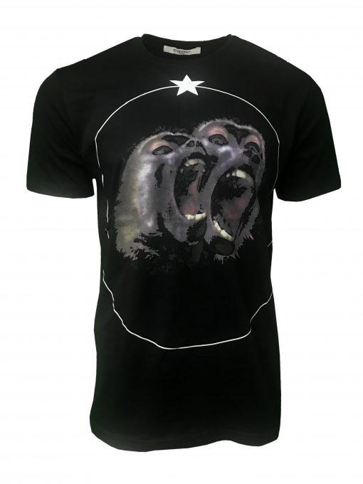 Givenchy Black Monkey Brothers Cuban T Shirt