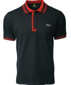 Hugo Boss Paule Short Sleeve Polo Shirt - Black
