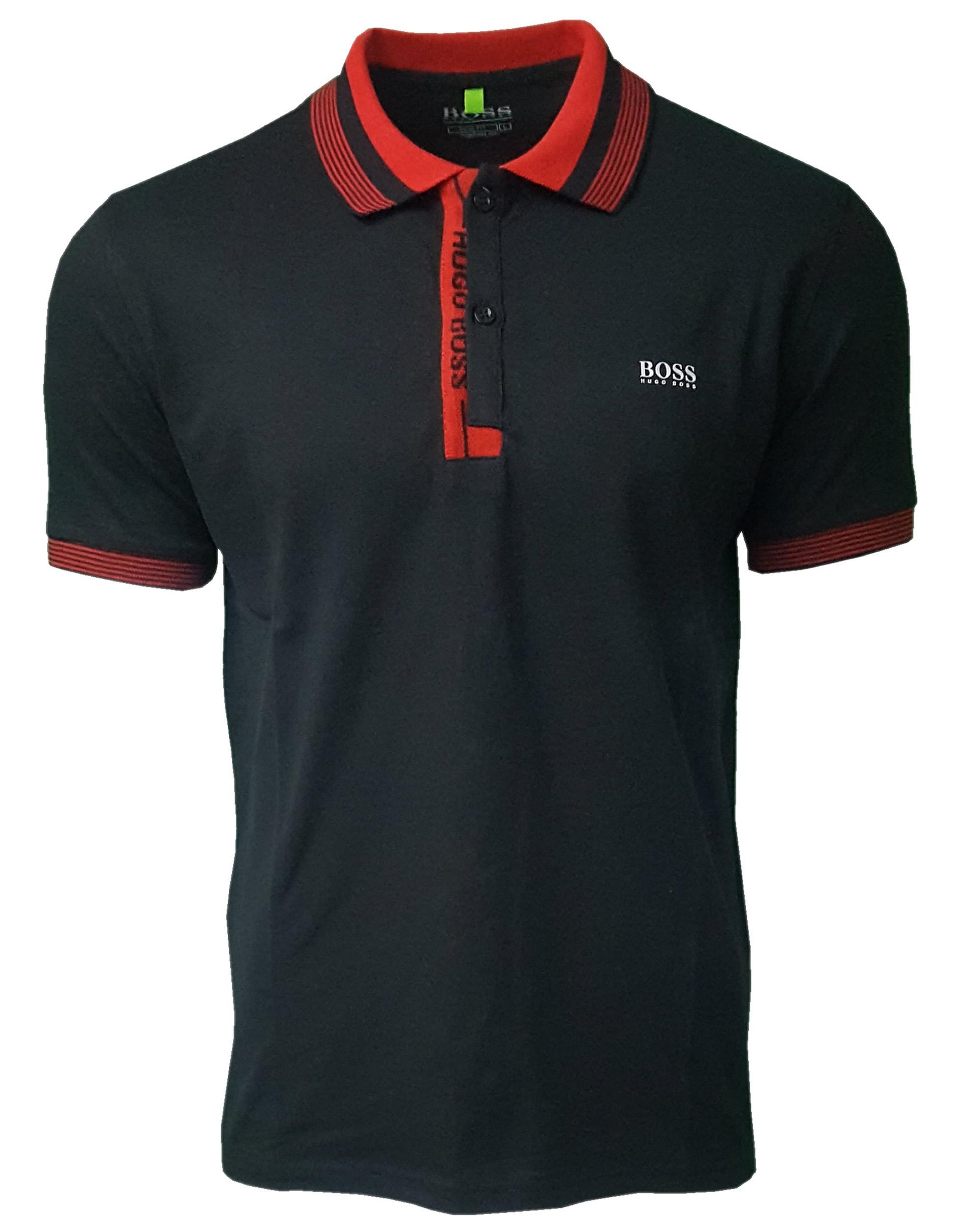 3db1b1330 Hugo Boss Paule Polo Shirt. Short Sleeve in Black