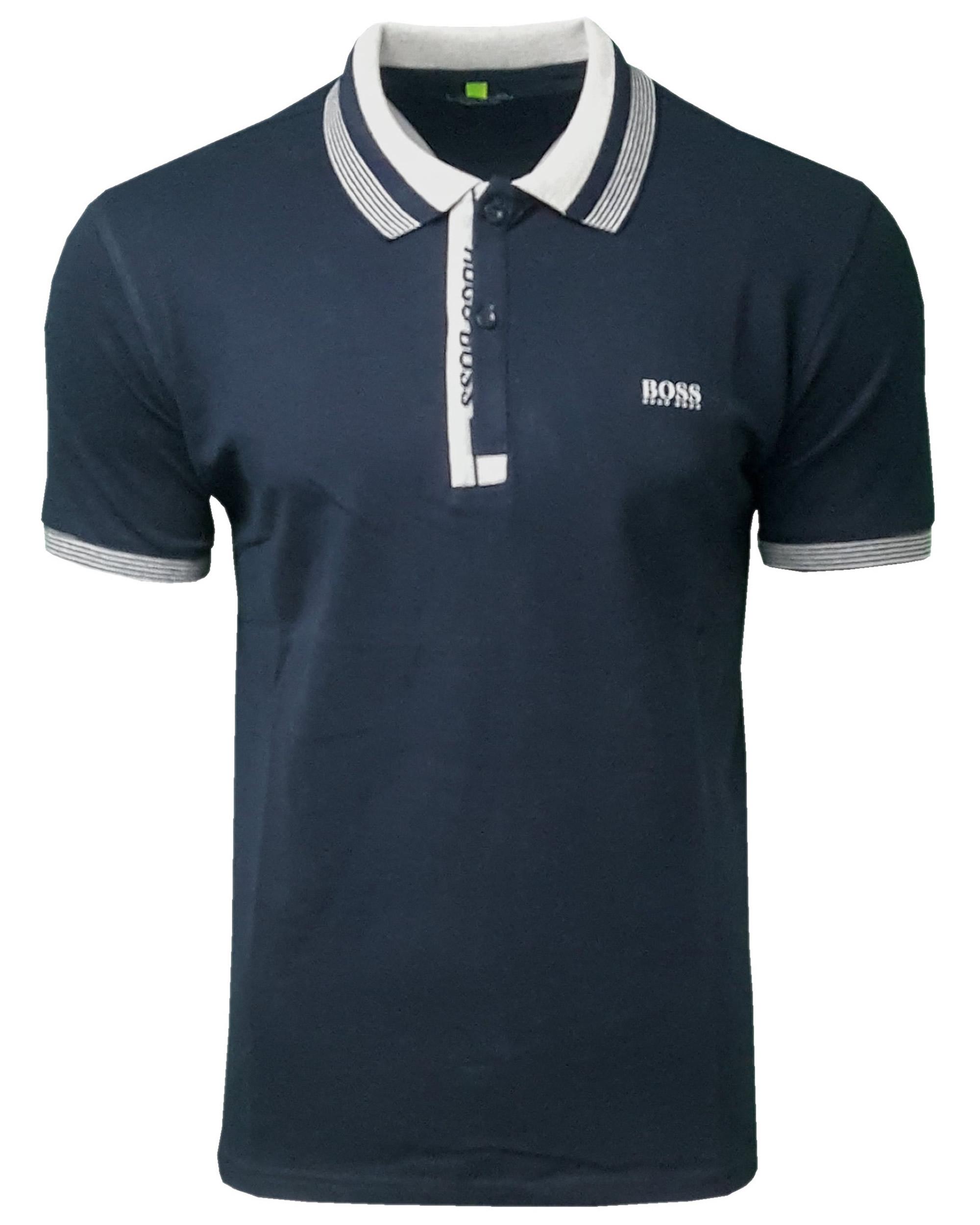 8e613fbcf Hugo Boss Paule Polo Shirt. Short Sleeve in Navy Blue