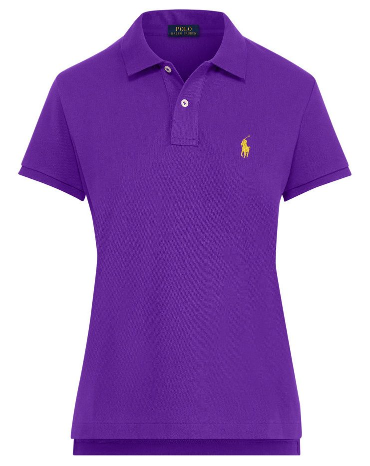 Ralph Shirt PonyThe Lauren Skinny Small Women's Purple Polo In 35RA4jLq