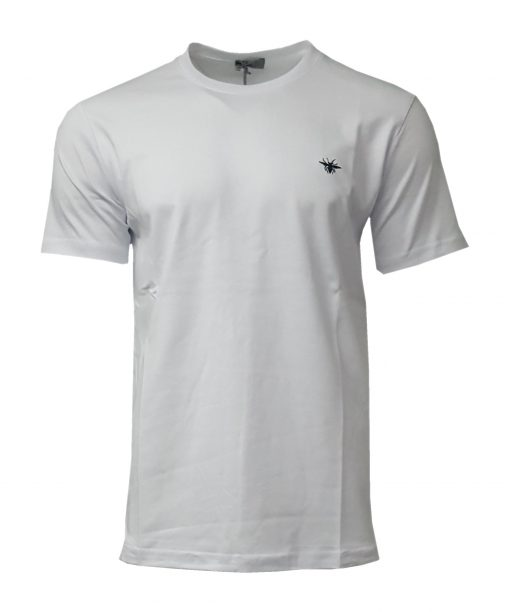 DIOR Classic Bee Mens Short Sleeve T Shirt in White