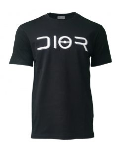 Dior Paris Embroidered Mens Short Sleeve T Shirt in Black