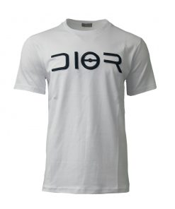122 - Dior Paris Embroidered Mens Short Sleeve T Shirt in White