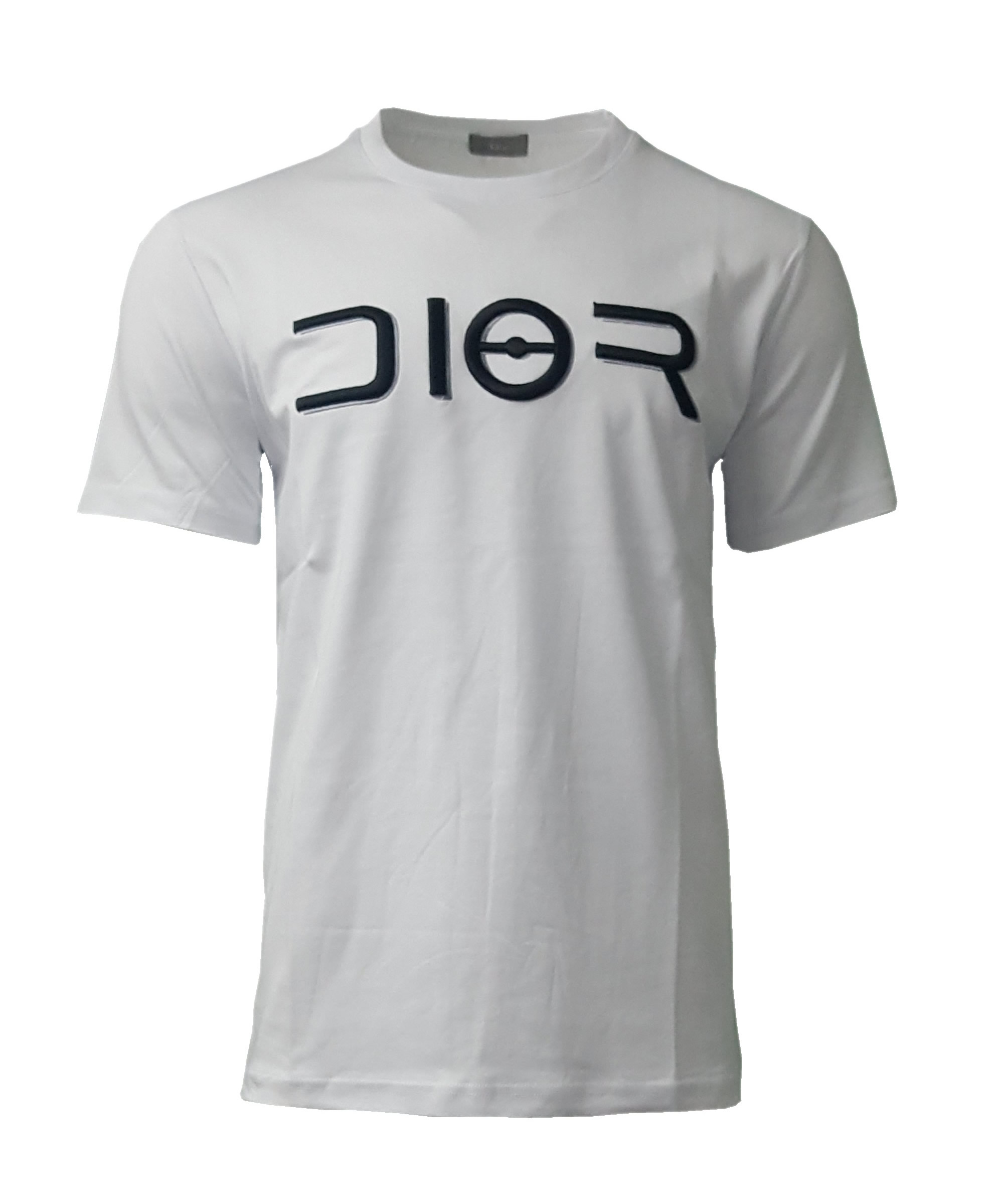f3cef196aff Dior Short Sleeve Men's Crew T Shirt with Embroidered Bee in Black ...
