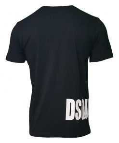Dsquared Mens T Shirt. Black Side Logo