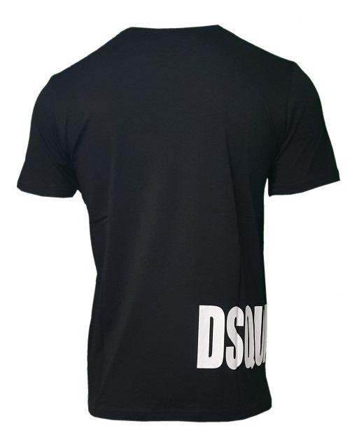 Dsquared Mens T Shirt. Black Side Logo