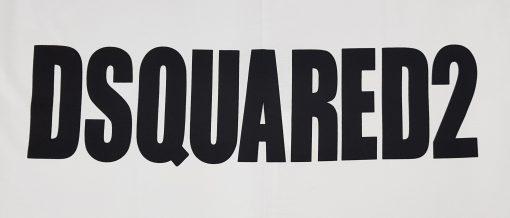 Dsquared Mens T Shirt. White Side Logo