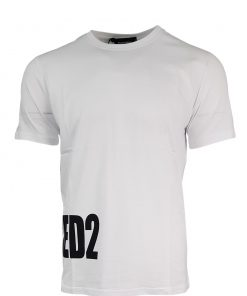Dsquared Mens T Shirt. White Side Logo