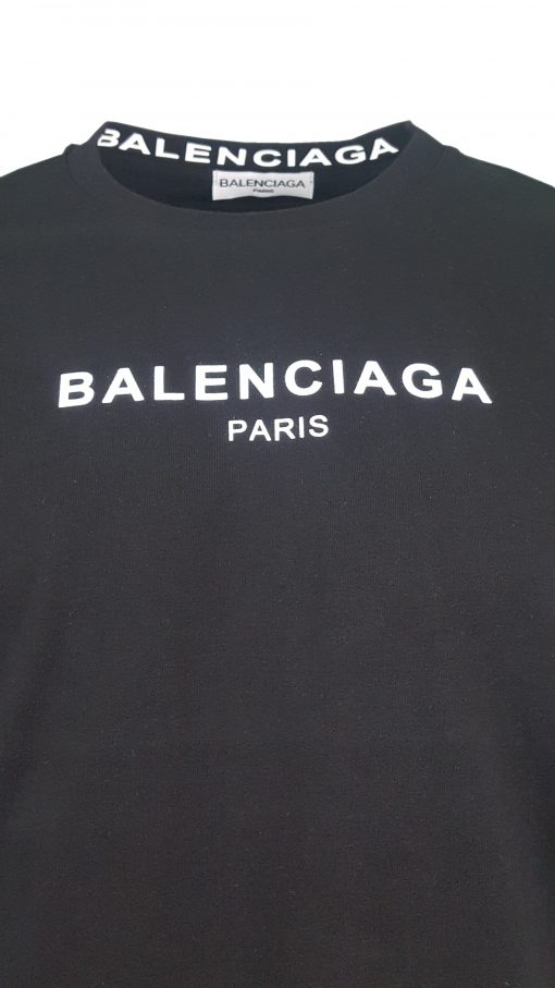 Balenciaga Short Sleeve Mens Crew T-shirt in Black