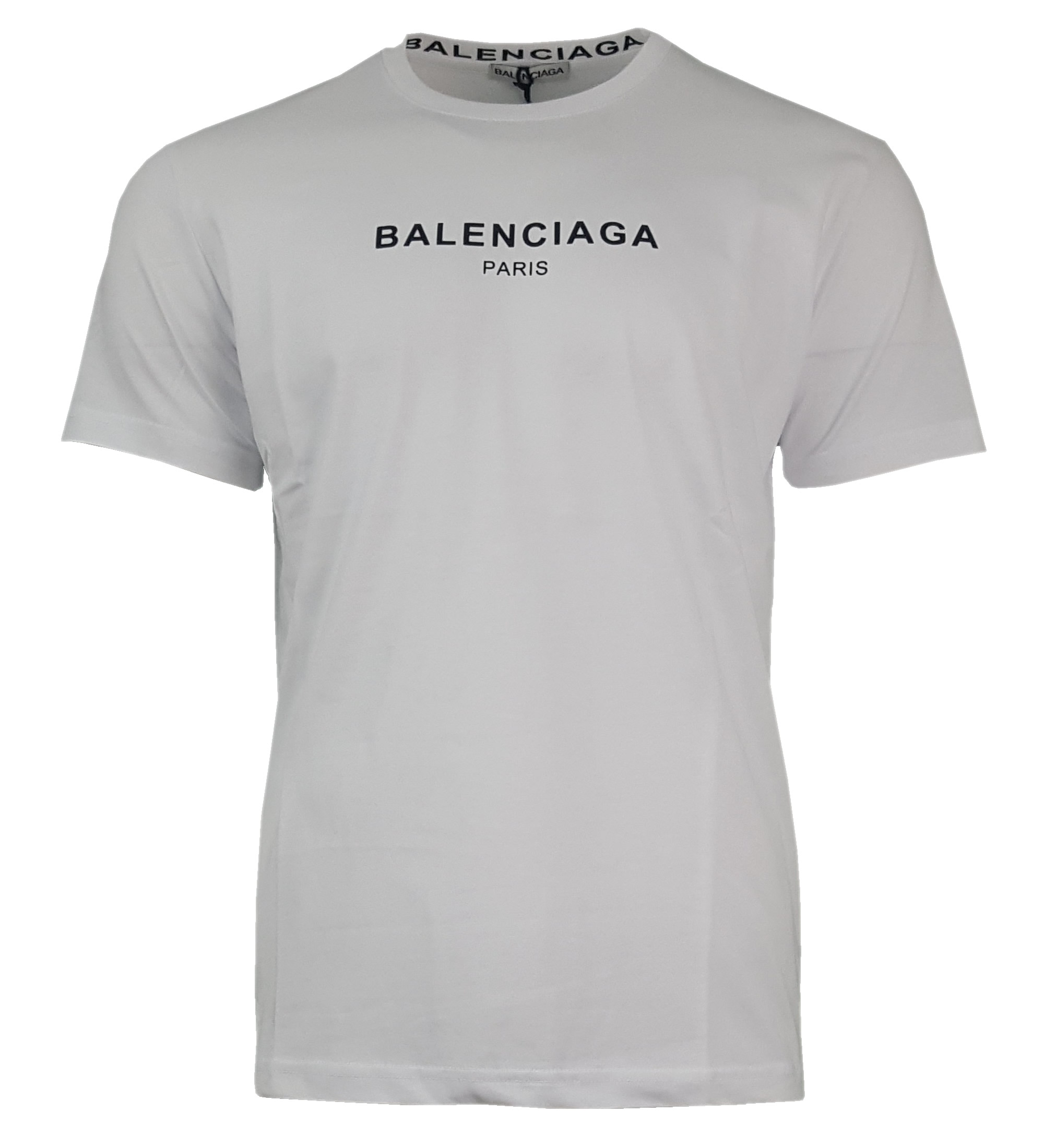 219c83094 Balenciaga Short Sleeve Crew T Shirt. Paris Chest Print in White ...