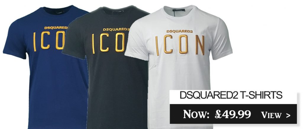 D2 DSquared 2 Icon Short Sleeve Crew T-shirts On Sale