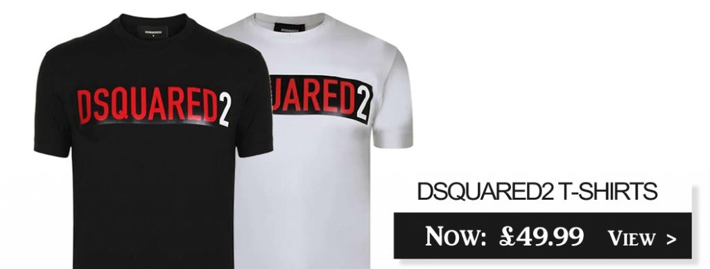D2 DSquared 2 Taped Short Sleeve Crew T-shirts On Sale