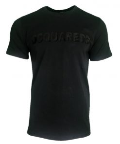 DSQUARED SEQUIN T SHIRT BLACK