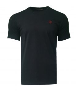 Louis Vuitton Short Sleeve Crew T Shirt with Embroidered Logo in Indigo
