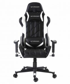 GTI RACER GAMING CHAIR IN BLACK AND WHITE