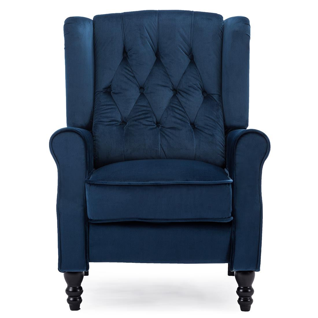 Althorpe Velvet Recliner Armchair in Blue | INTOTO7 Menswear